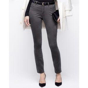 ANN TAYLOR Gray Modern Fit Skinny Velvet Jean